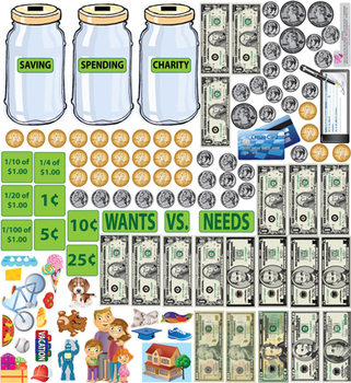 Interactive Money Skills Wall Play Set