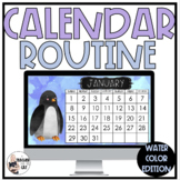 Interactive Morning Calendar Routine with Watercolor Theme