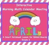 Interactive Math and Calendar  SMARTBoard for April Common Core
