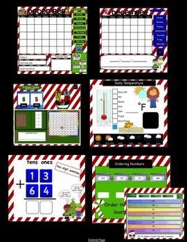 Interactive Morning Math Calendar Meeting SMARTBoard for December Common Core