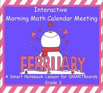 Interactive Morning Math Calendar Meeting SMARTBoard for F