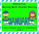 Interactive Morning Math Calendar Meeting SMARTBoard for January Common Core