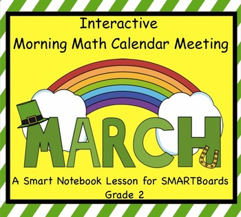 Interactive Morning Math Calendar Meeting SMARTBoard for March Common Core