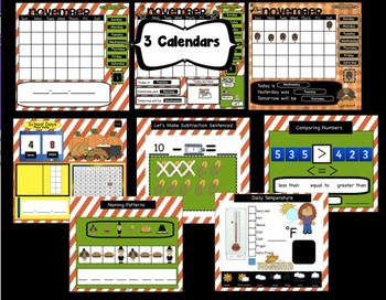 Interactive Morning Math Calendar Meeting SMARTBoard for November Common Core