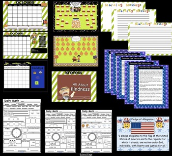 Calendar Math SMARTBoard for October Common Core - Attendance - Math - Calendar