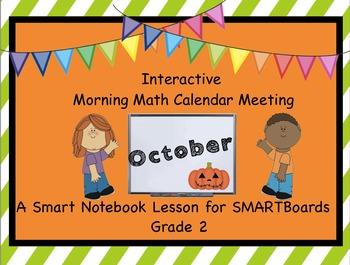 Calendar Math SMARTBoard for October Common Core - Attenda