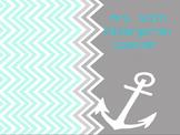 Interactive Morning Meet Calender & Math Time Nautical Theme