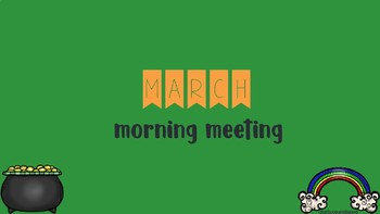 Interactive Morning Meeting Ppt