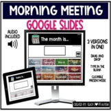 Morning Meeting Presentation & Google Slides Activity