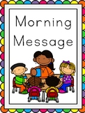 Interactive File Folder Morning Message