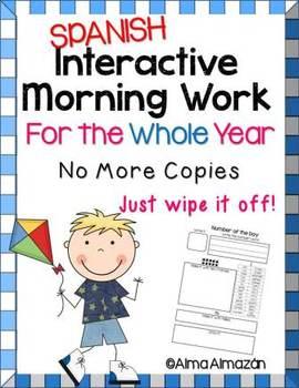 Interactive Morning Work Spanish