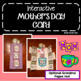 Interactive Mother's Day Card Craft Activity - Grandma