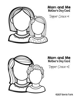 Mothers Day Lapbook Card Craft Activity - Grandma Included!