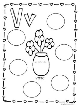 Free Interactive Mother's Day Printable and Lesson -  V for Vase