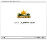 Interactive Multimedia Lesson -- Direct Object Pronouns in Spanish