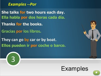 Interactive Multimedia Lesson -- Por and Para