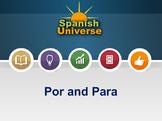 Interactive Multimedia Lesson -- Por and Para