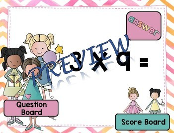 Interactive Multiplication Fast Fact Game BUNDLE - Basic Facts 1 thru 9