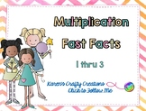 Interactive Multiplication Fast Fact Game - Basic Facts 1 thru 3