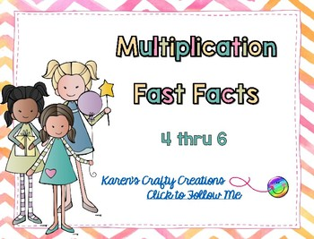 Interactive Multiplication Fast Fact Game - Basic Facts 4 thru 6