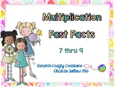Interactive Multiplication Fast Fact Game - Basic Facts 7 thru 9