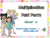 Interactive Multiplication Fast Fact Game - Mixed Facts A