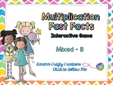 Interactive Multiplication Fast Fact Game - Mixed Facts B