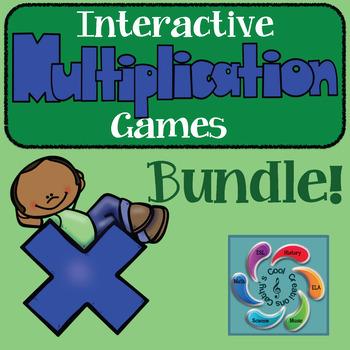 Interactive Multiplication Game Mega Bundle!!- distance learning