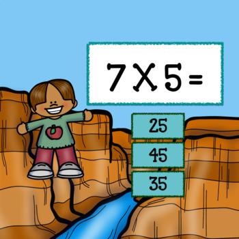 Interactive Math Game-Multiplication Google Slides/PDF Outdoor Adventures