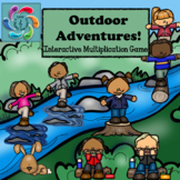 Interactive Math Game-Multiplication Google Slides/PDF Outdoor Adventures