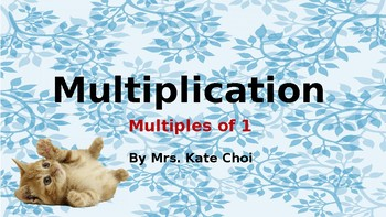 Interactive Multiplication: Multiples of 1 with Cute Images