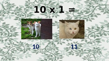 Interactive Multiplication: Multiples of 10 with Cats!
