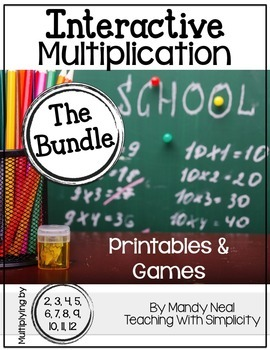 Interactive Multiplication Printables and Games (The Bundle)