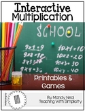 Interactive Multiplication Printables and Games (x11)