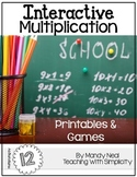 Interactive Multiplication Printables and Games (x12)