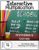 Interactive Multiplication Printables and Games (x4)
