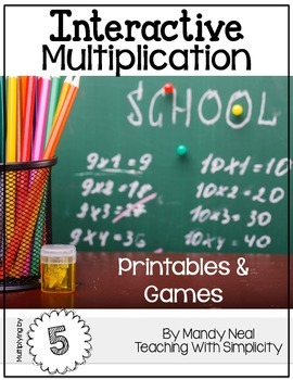 Interactive Multiplication Printables and Games (x5)