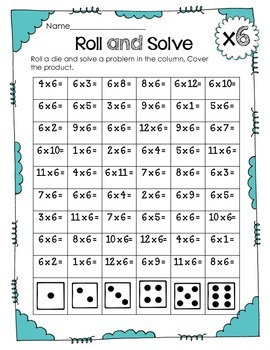 Interactive Multiplication Printables and Games (x6)