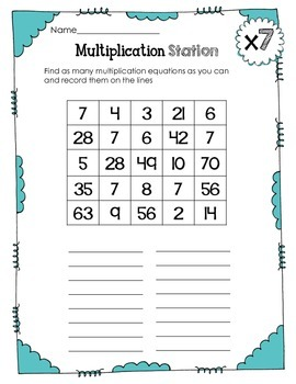 Interactive Multiplication Printables and Games (x7)