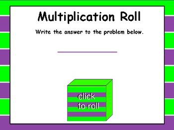 Interactive Multiplication Roll