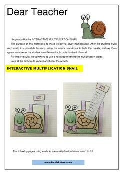 Interactive Multiplication Snail