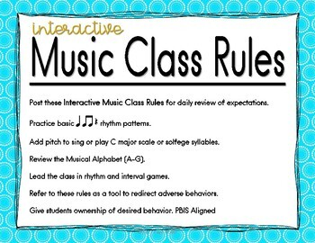 Interactive Music Class Rules
