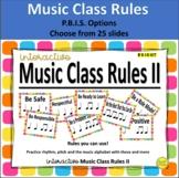 Interactive Music Class Rules II (P.B.I.S. Aligned)
