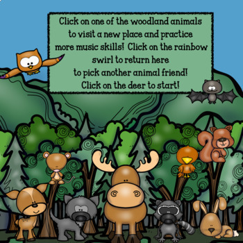 Interactive Music Games Bundle-Google Slides/Adobe Reader-Outdoor Adventures