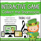 Interactive Music Games - Treble Clef : Collect the Shamrocks!
