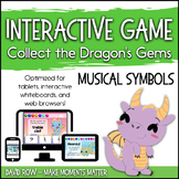 Interactive Music Games - Musical Symbols : Collect the Dragon's Gems!