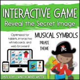 Interactive Music Games - Pirate Musical Symbols: Reveal t