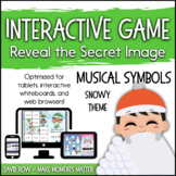 Interactive Music Games - Snowy Day Musical Symbols: Revea