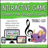 Interactive Music Games - Treble Clef : Collect the Dragon