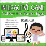 Interactive Music Games - Treble Clef : Collect the Easter Eggs!